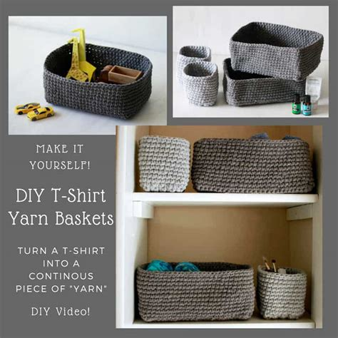 upcycle  shirts   shirt yarn baskets recyclart