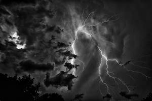 Lightning in black and white   Lightning converted to ...