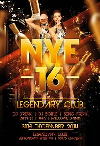 Legendary New Years Eve Flyer | Awesomeflyer.com