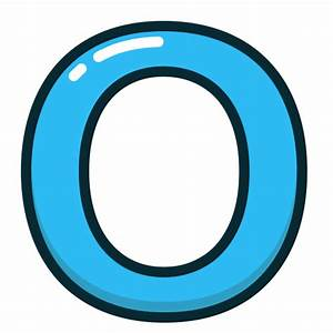 Blue  O  Letter  Alphabet  Letters Icon