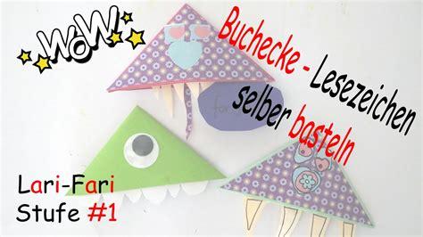 lesezeichen selber basteln buchecke aus papier basteln diy mike glotzkowski lesezeichen selber machen