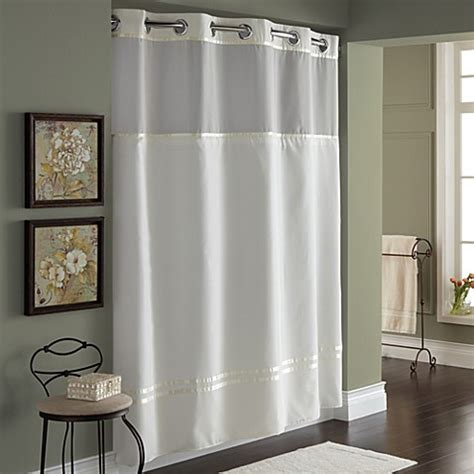 hookless shower curtains hookless 174 escape 71 inch x 74 inch fabric shower curtain