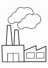 Factory Coloring Pages sketch template