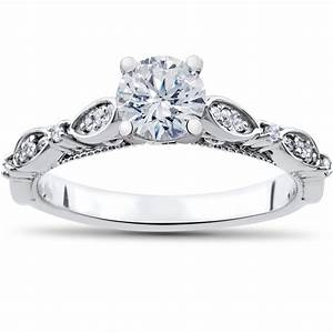 1 ct vintage diamond engagement ring matching wedding With matching diamond wedding rings