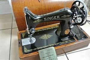 Vintage 99k Singer Sewing Machine With Instruction Manual