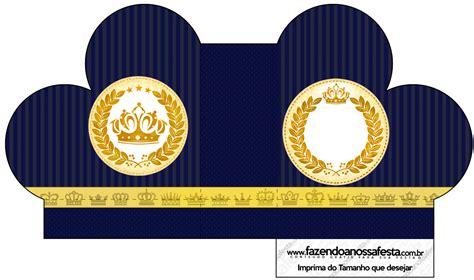 kit festa completo coroa de principe azul marinho 2 60