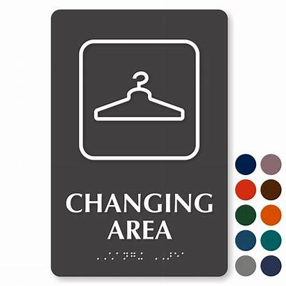 Changing Dressing Signs Area Graphic Sign Symbol