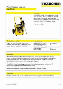 Download Free Pdf For Karcher K 2400 Hh Pressure Washers