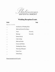 platinum entertainment client online tools platinum With wedding reception ceremony order