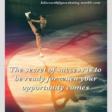 """The Secret Of Success Is To Be Ready For When Your Opportunity Comes """"  Sports Quote"""