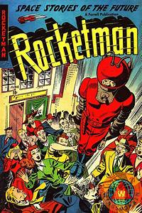 Classic Comic Book Cover Rocketman by Wingsdomain Art and