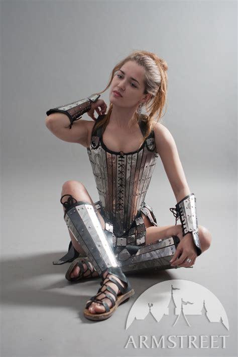 lady warrior corset armor  sale   brass