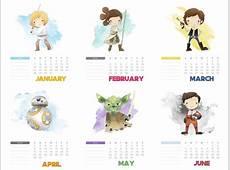 Calendário 2018 Star Wars para você imprimir Nerd Pai