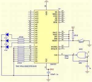 Z80 Test Circuit