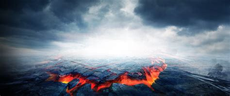 passion volcano background fire cool city background