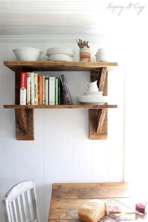 chic diy rustic shelves  embed   home decor