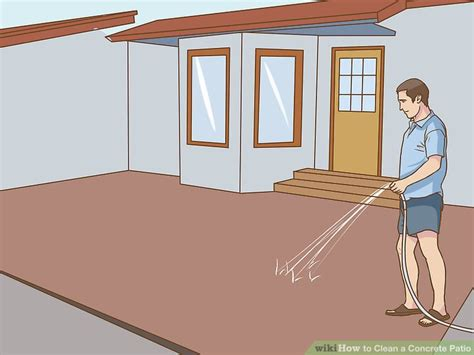 How To Clean Cement Porch by 4 Ways To Clean A Concrete Patio Wikihow