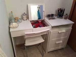 My DIY Make Up Vanity Using IKEA Brimne Dressing Table