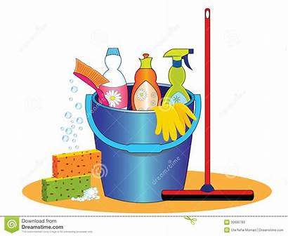 Cleaning Supplies Illustration Tools Pail Cleaner