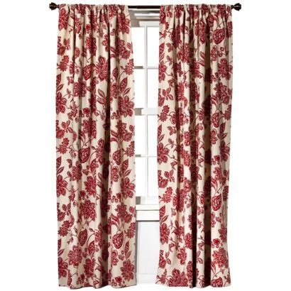 target home farrah floral window panel might look good in