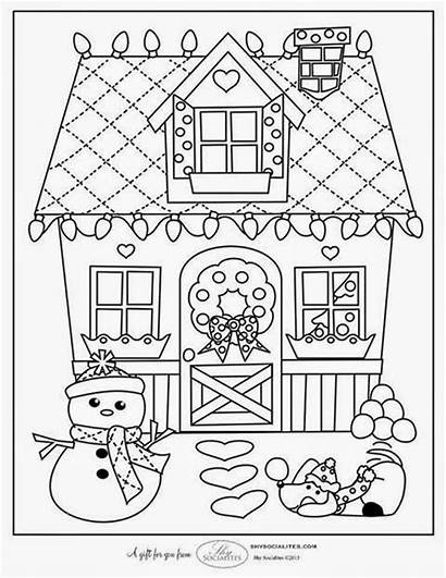 Coloring Christmas Pages Printables Gift Homemade Tags