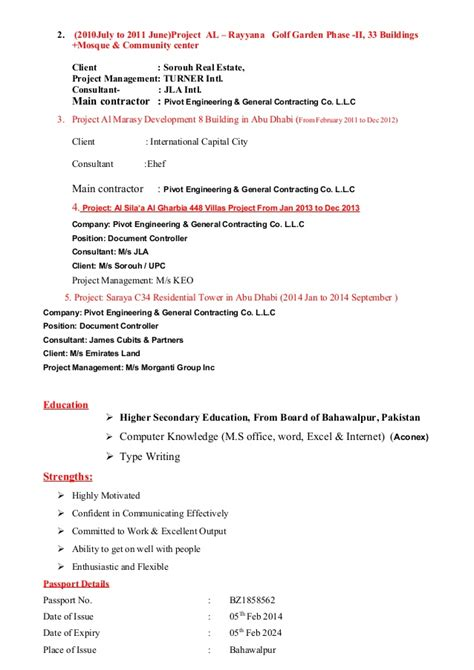 Document Controller Resumes by Resume Template For Document Controller