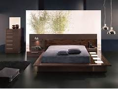 Platform Bed Decoration Selex Ebony Modern Platform Queen Bed With Lights And Two Nightstands