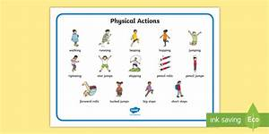 Pe Physical Actions Word Mat