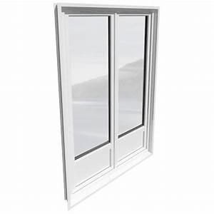 Objeto bim y cad porte fenetre 2 vantaux pvc avec ou for Porte fenetre 3 vantaux