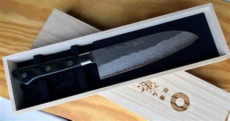 handmade kitchen knives uk tojiro handmade santoku knife kitchenknives co uk