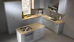 cuisine gris clair chene massif With quel bois pour plan de travail cuisine