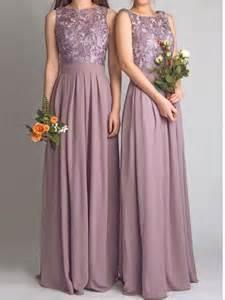 purple bridesmaid dresses cheap aliexpress buy chiffon backless pale purple grey maxi lace bridesmaids dress cheap