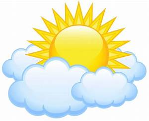 sun with cloud clipart - Clipground