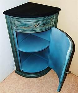 Petit Meuble D Angle : meuble d 39 angle d 39 appoint patin ~ Preciouscoupons.com Idées de Décoration