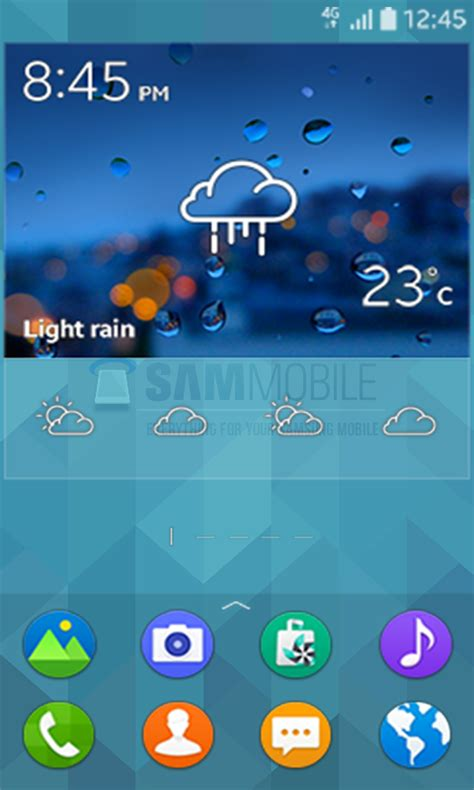 samsung s low end tizen interface seen in leaked