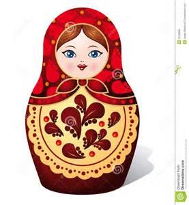 wedding invitation matryoshka doll draw