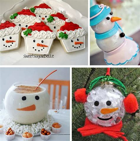 snowman desserts decorations  crafts christmas