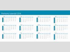 Kalendář 2018 5 2019 2018 Calendar Printable with