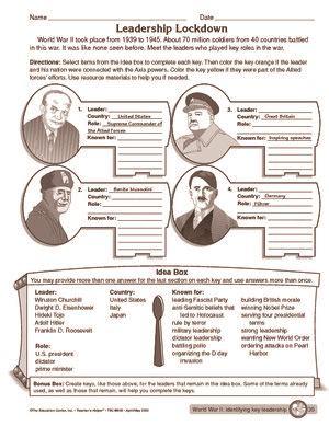 Worksheet Leaders During World War Ii  World War Ii  Pinterest  Historia, Historia Del Mundo
