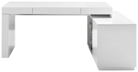 modern office desk white high gloss
