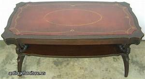 antique mahogany leather top coffee table at antique With antique leather top coffee table