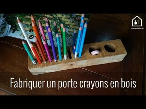 tuto fabriquer un porte crayons en bois bricolage facile