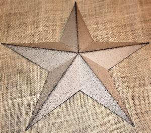 Metal tin barn star wall decor