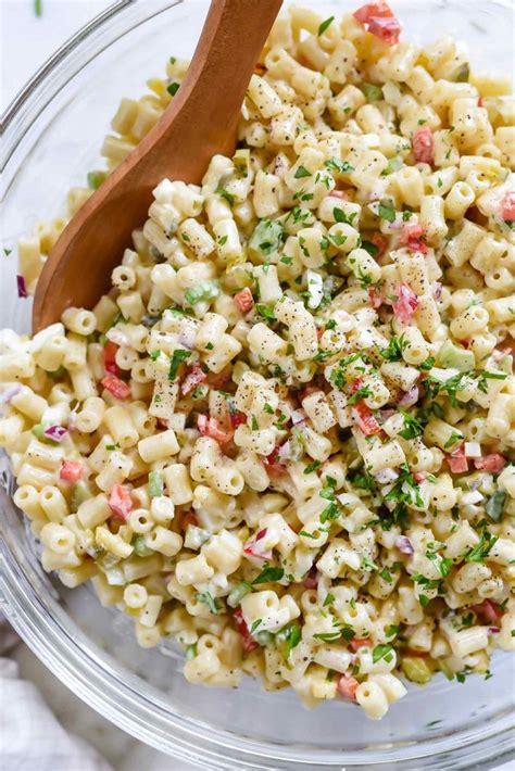 classic macaroni salad foodiecrushcom
