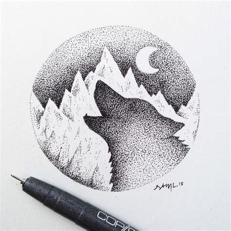 simple  intense stipple art      details