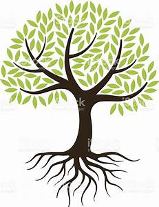 Little Tree Illustration With Roots Stock Vector Art ...
