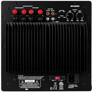 Spa250 250w Subwoofer Plate Amplifier