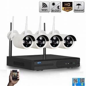 Video Surveillance Sans Fil : kit vid o surveillance 4 cam ras sans fil wifi pour ~ Dailycaller-alerts.com Idées de Décoration