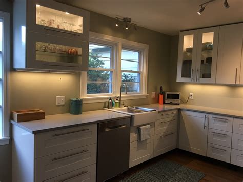 ikea white kitchen cabinets a gorgeous ikea kitchen renovation in upstate new york 4613
