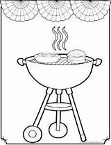 July 4th Coloring Pages Grilling Sheet Printable Cloring sketch template